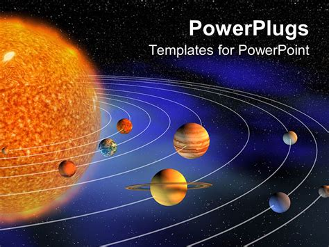 Powerpoint Template Diagram Representing Planets The