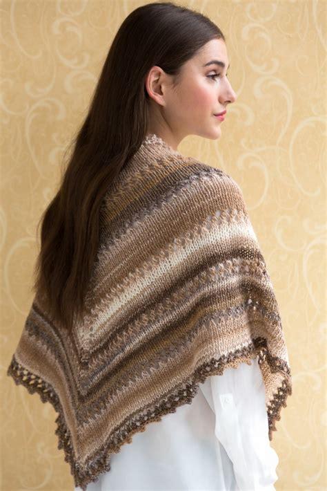 Simple Knit Shawl in NAVAJO | Tahki Stacy Charles