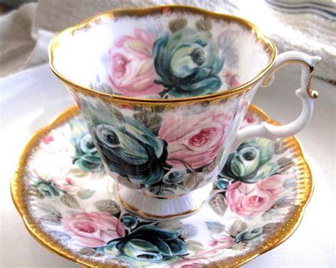 fancy royal albert jade tea cup  saucer set  luulla