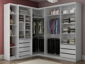 Petit Dressing D Angle : armoire d 39 angle alrik 2 portes blanc ~ Premium-room.com Idées de Décoration