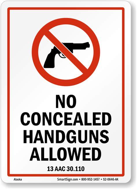guns law signs  alaska