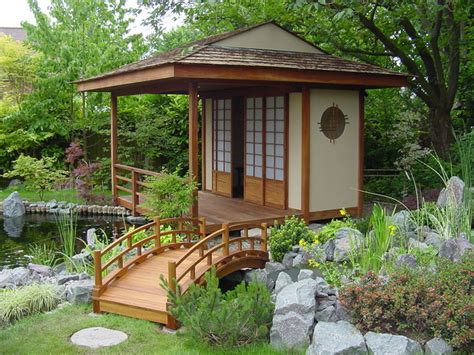 japanese teahouse and koi pond brentwood