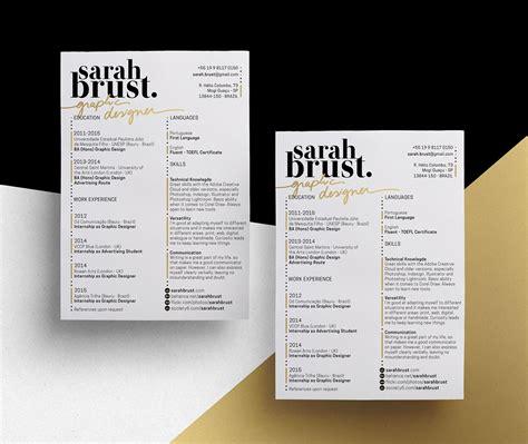11 resume designs with slick personal branding branding