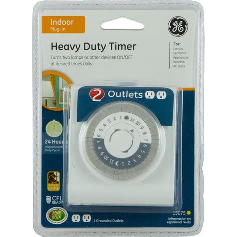 general electrical 15075 24 hour 2 outlet indoor heavy