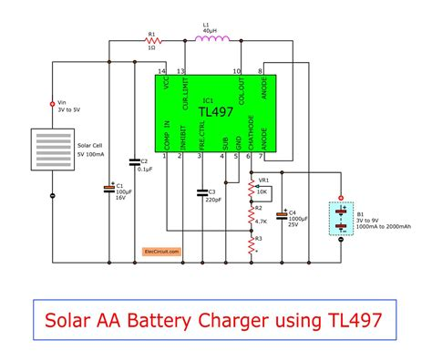 Make Solar Battery Charger Circuit Eleccircuit