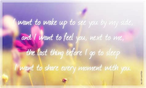 Want To Wake Up With You Quotes