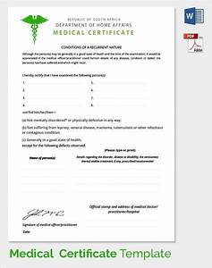 Sample medical certificate download documents pdf word for Dr certificate template