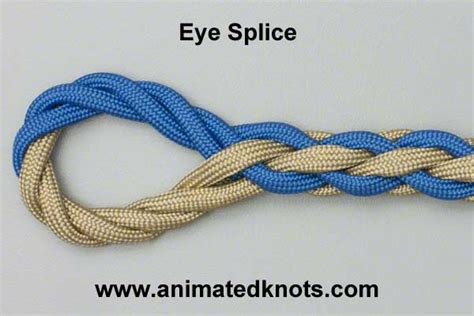 eye splice how to tie the eye splice knots