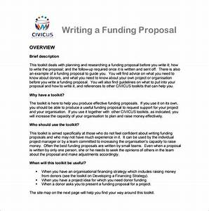 15 writing proposal templates free sample example for Writing a proposal for funding template