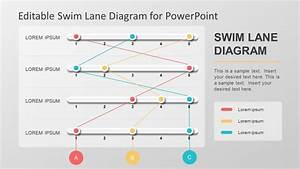 Editable Swim Lane Diagram For Powerpoint