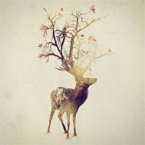 smoky double exposure animals illustrations fubiz media