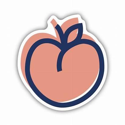 Peach Sticker Drink Stickers