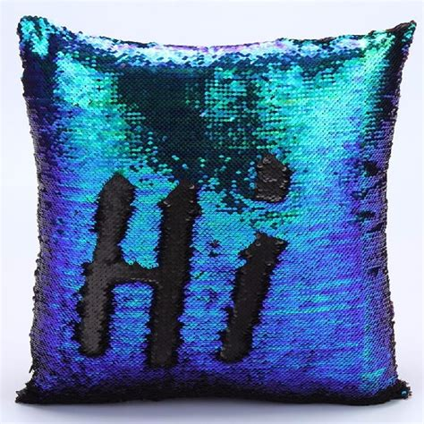 reversible sequin mermaid pillowcase magical color