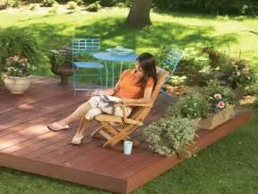 Floating Back Yard Deck Plans