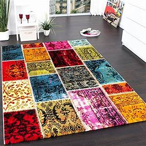 tapis moderne design tapis patchwork vintage multicolore With tapis patchwork pas cher