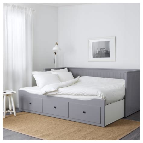 26869 ikea guest bed hemnes day bed frame with 3 drawers grey 80 x 200 cm ikea