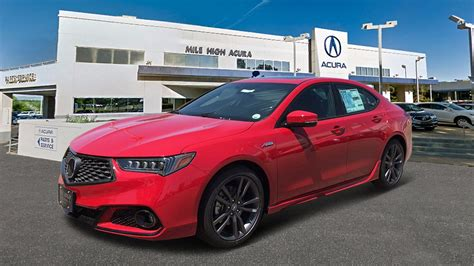 new 2019 acura tlx 2 4 8 dct p aws with a spec red 4dr car