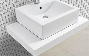 Plan Suspendu Pour Vasque : plan salle de bain pour vasque suspendue cadena white en ~ Teatrodelosmanantiales.com Idées de Décoration