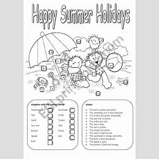 Happy Summer Holidays  Esl Worksheet By Carla74