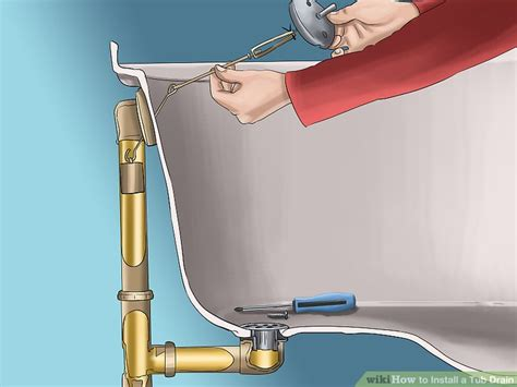 how to replace a tub drain stopper how to install a tub drain 8 steps with pictures wikihow