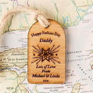 Engraved Wooden Father's Day Gift Tag | Forever Bespoke