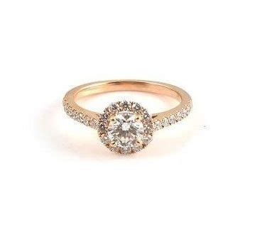 rose gold halo diamond engagement ring b20902 diamonds and pearls perth
