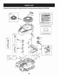 Page 28 Of Craftsman Lawn Mower 247 887760 User Guide