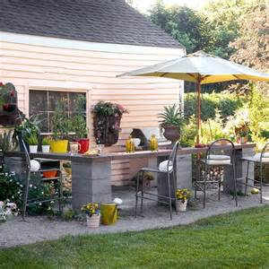 small outdoor kitchen design ideas how to repurpose concrete blocks awesome diy projects to try