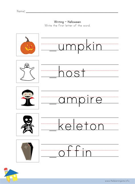handwriting worksheets halloween kids activities