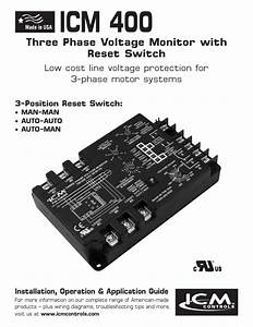 Icm 400 Three Phase Voltage Monitor With Reset Switch