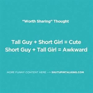 Tall Guy + Short Girl | Shut Up I'm Talking