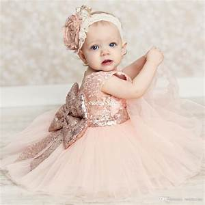 baby infant toddler birthday party dresses blush pink rose With infant wedding dresses