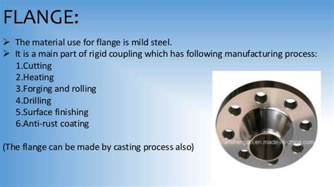 manufacturing processes  rigid coupling