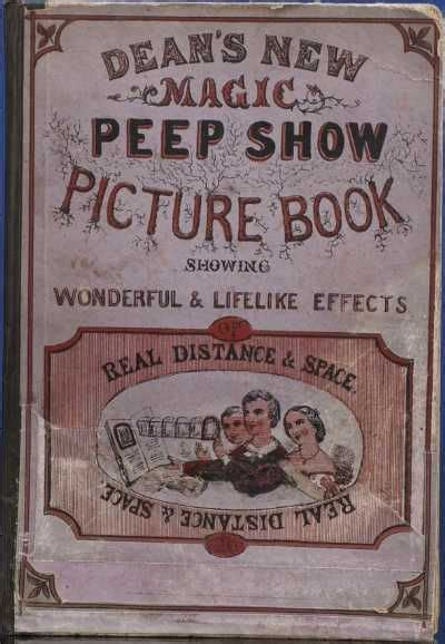 1861 Deans New Magic Peep Show Picture Book Showing
