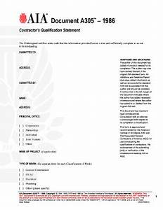 Aia document a305 fillable fill online printable for Aia a305 template