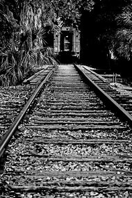 Black and White Photography Train Tracks