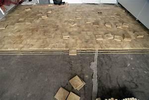 Pavé De Bois : pendant la pose des pav s bois debout deux niveaux de ~ Premium-room.com Idées de Décoration