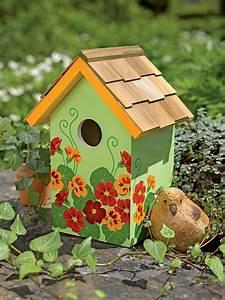 Floral, Print, Birdhouse
