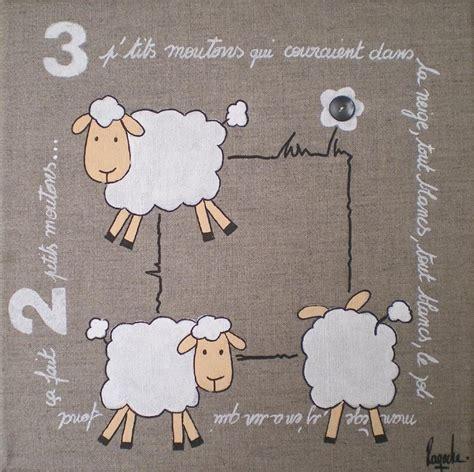 cadre décoration chambre bébé cadre moutons chambre bebe visuel 3