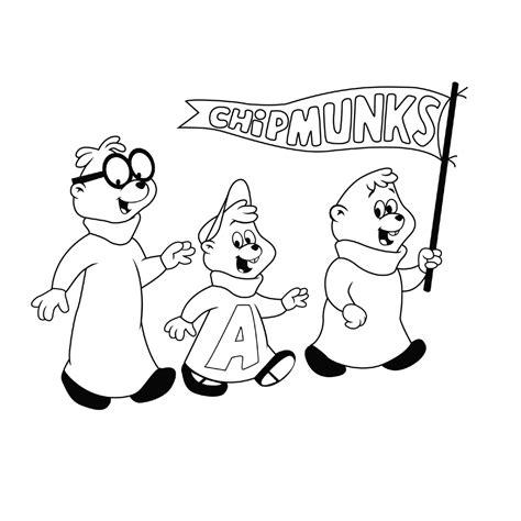 Alvin En De Chipmunks Kleurplaat by Leuk Voor Chipmunks 0008