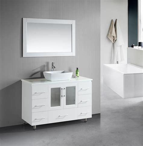 bathroom vanity with vessel sink stanton 48 inch white bathroom vanity porcelain vessel sink