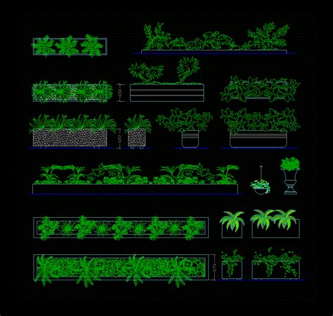 plants arustos dwg plan  autocad designs cad