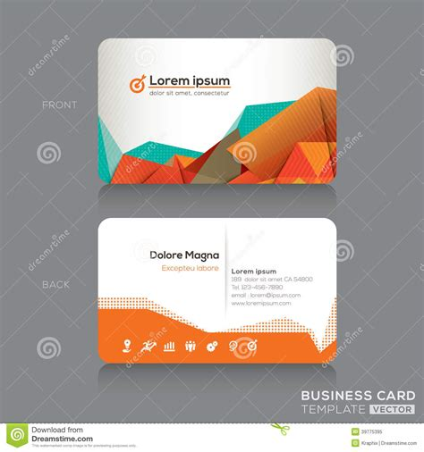 modern business cards design template stock vector image