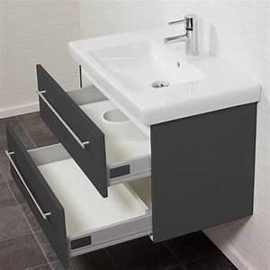 Waschtisch Mit Becken : bad waschtisch mit villeroy boch becken subway 2 0 80 cm breit grau bad waschtische ~ Indierocktalk.com Haus und Dekorationen