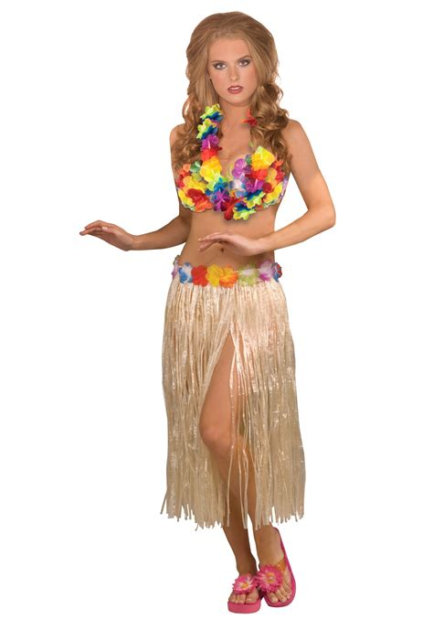 3 piece hula girl costume set for women
