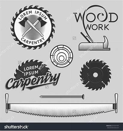 Logos Carpentry Wood Vector Works Symbols Templates