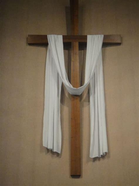 drape cloth white drape cross jpg easter ideas easter