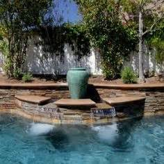 pool tile designs pool water fountain design ideas small