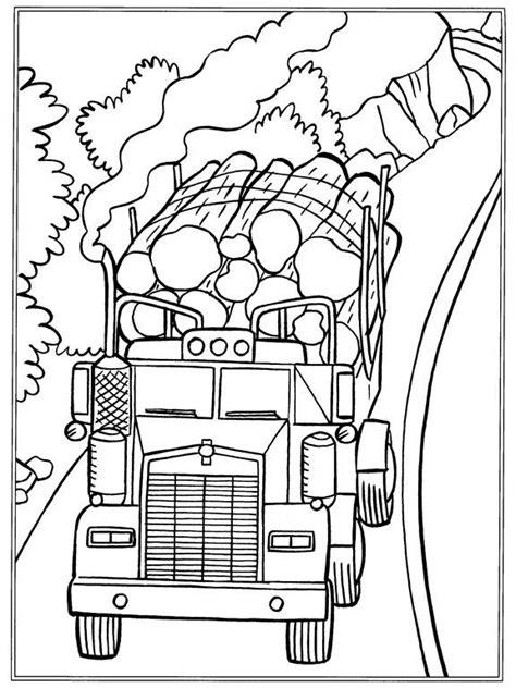 Kleurplaten Vrachtwagen Met Kraan by Kleurplaat Vrachtwagens Boomstammen Kleurtekeningen