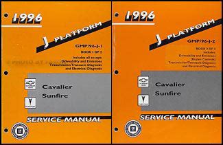 Chevy Cavalier Pontiac Sunfire Repair Shop Manual Set